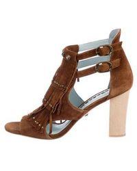 DANNIJO - Quin Fringe Sandals - Lyst
