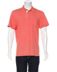 Michael Kors - Striped Polo Shirt Orange - Lyst