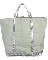 Vanessa Bruno - Sequined Le Cabas Tote Silver - Lyst