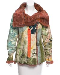 Christian Lacroix - Embellished Fur Lined Jacket - Lyst