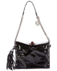 Lanvin - Studded Patent Leather Shoulder Bag Black - Lyst