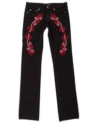Just Cavalli - Mid-rise Embroidered Jeans - Lyst