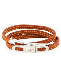 Tod's - Triple Wrap Bracelet Silver - Lyst