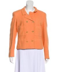 Chanel - Vintage Bouclé Blazer Orange - Lyst