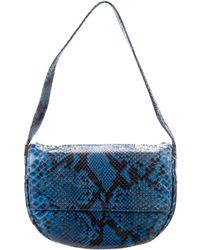 Sergio Rossi - Mini Python Bag Blue - Lyst