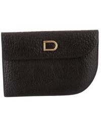 Delvaux - Leather Card Holder Black - Lyst