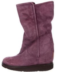 UGG - Collection Shearling-trimmed Boots Plum - Lyst