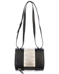 Lyst - Givenchy Mini Pandora Box Bag Tan in Metallic 3e98e6b65ad46