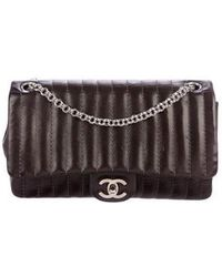 Chanel - Vertical Quilt Medium Flap Bag Brown - Lyst