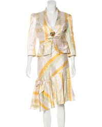 Christian Lacroix - Silk Jacquard Skirt Suit Multicolor - Lyst