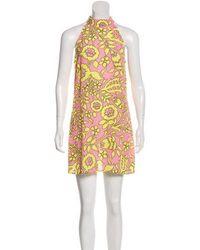 Class Roberto Cavalli - Printed Mini Dress W/ Tags - Lyst