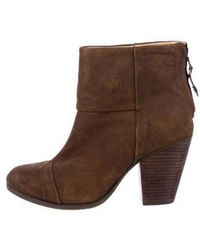 Rag & Bone - Suede Round-toe Ankle Boots - Lyst