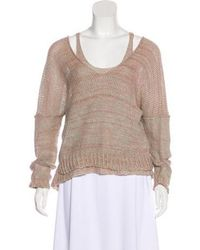 Lauren Manoogian - Layered Knit Sweater Pink - Lyst