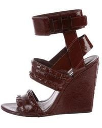 Alexander Wang - Kasia Patent Leather Wedges - Lyst