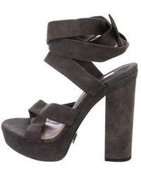 d6e533da8f0 Lyst - Michael Kors Suede Platform Sandals in Black
