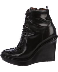Givenchy - Lace-up Wedge Ankle Boots - Lyst