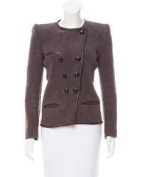 Isabel Marant - Structured Linen Jacket Grey - Lyst