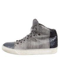 Lanvin - Python Basket Sneakers Grey - Lyst