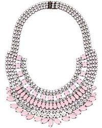 Tom Binns - Neopolitano Crystal Collar Necklace Pink - Lyst