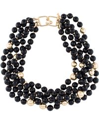 Kenneth Jay Lane - Resin Bead Multistrand Necklace Gold - Lyst