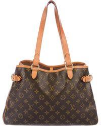 Louis Vuitton - Monogram Batignolles Horizontal Bag Brown - Lyst