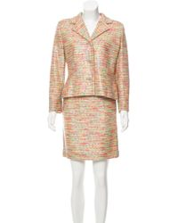 Givenchy - Bouclé Knee-length Skirt Suit Multicolor - Lyst