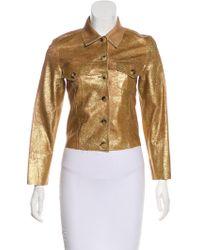 Lucien Pellat Finet - Glitter Leather Jacket - Lyst