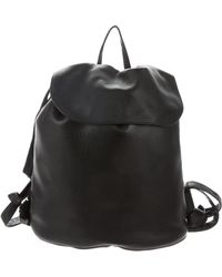 The Row - Leather Drawstring Knapsack W/ Tags Black - Lyst