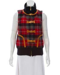 Smythe - Wool Plaid Vest W/ Tags Grey - Lyst