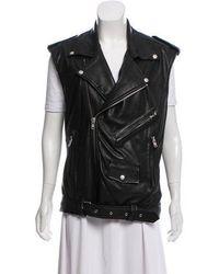 BLK DNM - Leather Notched Lapel Vest Black - Lyst