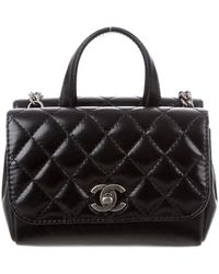 19f9bb9f319e6a Lyst - Chanel Vintage Timeless Wallet On Chain Black in Metallic