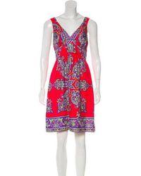 Tibi - Printed Silk Dress - Lyst