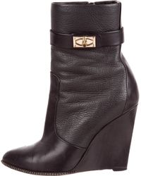 Givenchy - Shark-lock Wedge Boots Black - Lyst