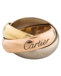 Cartier - Large Trinity Ring Yellow - Lyst