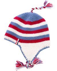 Moncler - Striped Knit Beanie - Lyst