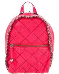 Stella McCartney - Quilted Shaggy Deer Mini Falabella Backpack W/ Tags Coral - Lyst