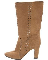 Tamara Mellon - Pointed-toe Mid-calf Boots Neutrals - Lyst