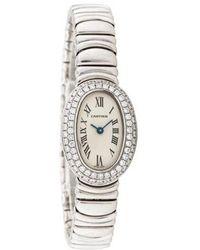 Lyst Cartier Baignoire Watch In Metallic