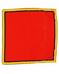 Carolina Herrera - Polka Dot Square Scarf - Lyst