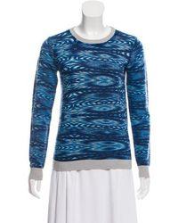 Gryphon - Merino Wool Printed Sweater Grey - Lyst