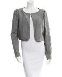 Z Spoke by Zac Posen - Textured Cropped Jacket W/ Tags Grey - Lyst