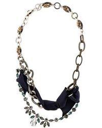 Lanvin - Crystal Collar Necklace Silver - Lyst