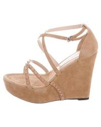 19bd167c788 Lyst - Calvin Klein Marion Nude Wedge Heel in Natural