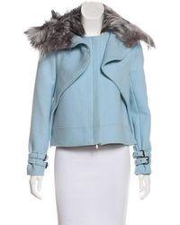 Wes Gordon - Wool Fox Fur-trimmed Jacket - Lyst