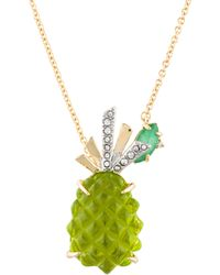 Alexis Bittar - Dyed Quartzite & Pineapple Pendant Necklace Gold - Lyst