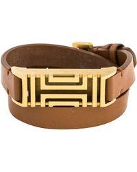 Tory Burch - For Fitbit Fret Double Wrap Bracelet Gold - Lyst
