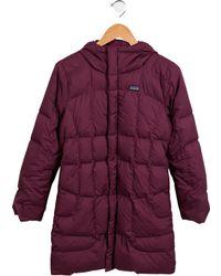 Patagonia - Girls' Hooded Down Coat - Lyst