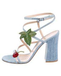 Gianvito Rossi - Cherry Denim Sandals W/ Tags - Lyst