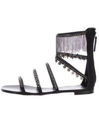 081c5a0dbf5 Giuseppe Zanotti - Embellished Multistrap Sandals Black - Lyst