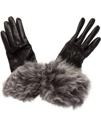 UGG - Shearling-trimmed Leather Gloves - Lyst